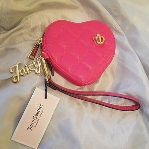 Juicy couture wristlet watermelon color NWT